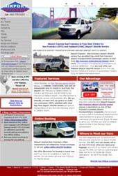 Airport Express airport transportation website