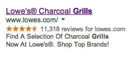 AdWords ad with a call to action