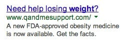 AdWords Ad that asks a question