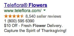 AdWords ad with a relevant benefit