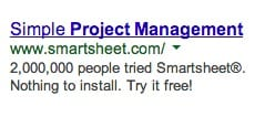 adwords ad with social proof