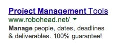 Adwords Ad that Removes Risk