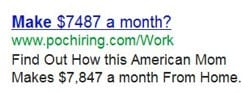 AdWords Ad that tells a story